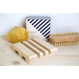 porte savon bois blanc design nordique fabriqué en France