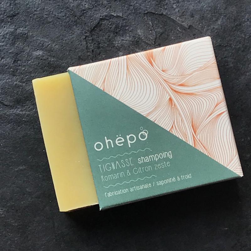 shampoing carré solide deco vert pot presentation romarin argile
