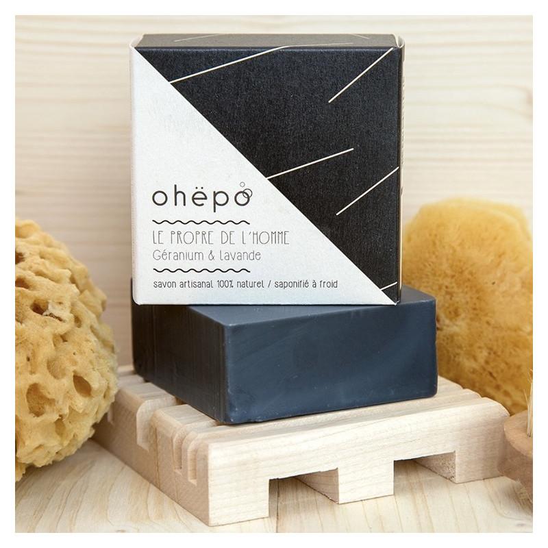 savon saponifié à froid bio carré noir déco et moderne au charbon actif